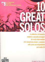 10 great Solos (+CD) for alto saxophone and piano