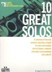10 great Solos (+CD) for clarinet and piano