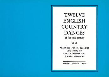 12 english Country Dances for calrineet and piano