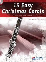 15 easy Christmas Carols (+CD) for clarinet and piano