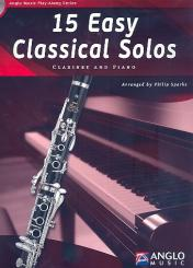 15 easy classical Solos (+CD) for clarinet and piano