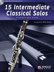 15 intermediate classical Solos (+CD) for clarinet and piano