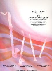 16 Duos classiques faciles et progressifs pour 2 clarinettes, partition