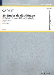 20 Études de déchiffrage für 2 Klarinetten Spielpartitur