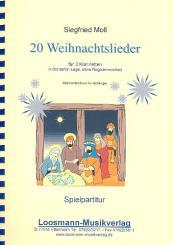 20 Weihnachtslieder für 3 Klarinetten Spielpartitur