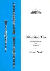 22 Klarinetten-Trios Spielpartitur