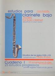 25 progressive Studies vol.1 (first register until low C) for bass clarinet (basset horn)