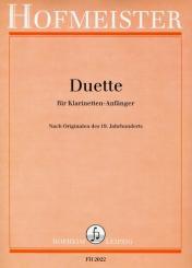 3 Duette nach Originalen des 19. Jahrhunderts für 2 Klarinetten, Partitur
