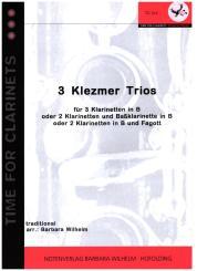 3 Klezmertrios für 3 Klarinetten (2 Klarinetten und Baßklarinette, oder Fagott)