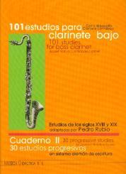 30 progressive Studies vol.2 (for german notation system) for bass clarinet (basset horn)