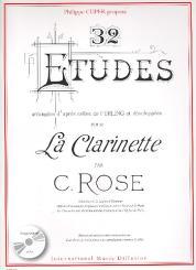 32 Études d'après Ferling (+CD) pour clarinette
