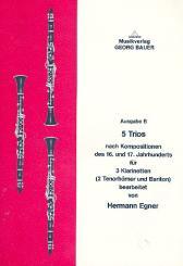 5 Trios für 3 Klarinetten (2 Tenorhörner und Bariton), Spielpartitur