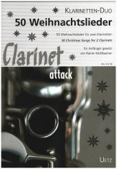 50 Weihnachtslieder für 2 Klarinetten in B, Spielpartitur