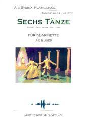 6 Tänze (+CD) für Klarinette und Klavier, Klarinettenstimme