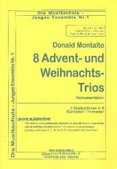 8 Advents- und Weihnachtstrios für 3 Klarinetten (Trompeten)