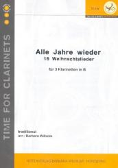 Alle Jahre wieder für 3 Klarinetten Partitur und Stimmen