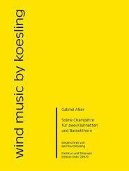 Allier, Gabriel: Scène champêtre für 2 Klarinetten und Bassetthorn, Partitur und Stimmen