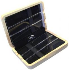 Case for 6 alto saxophone reeds, wood