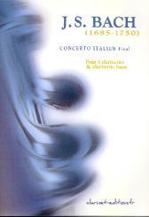 Bach, Johann Sebastian: Final du Concerto Italien pour 3 clarinettes et clarinette basse, partittion et parties