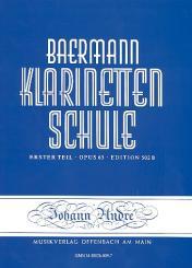 Baermann, Carl: Klarinettenschule Band 2 Erster Teil op.63 Anfang der praktischen Schule