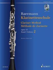 Baermann, Carl: Klarinettenschule op.63 Band 2 (+2 CD's) für Klarinette (deutsches und Böhm-System)