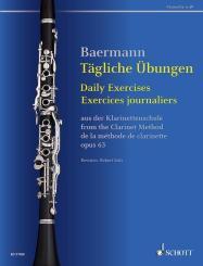Baermann, Carl: Tägliche Übungen aus der Klarinettenschule op.63 für Klarinette (dt/en/fr)
