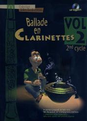 Ballade en clarinetttes vol.2 (+CD) pour 2 clarinettes