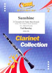 Barclay, Ted: Sunshine for 3 clarinets and piano (keyboard) (rhythm group ad lib), score and parts