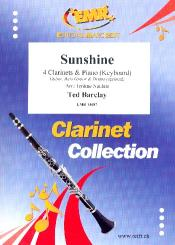 Barclay, Ted: Sunshine for 4 clarinets and piano (keyboard) (rhythm group ad lib), score and parts