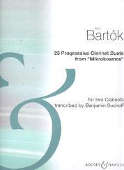 Bartók, Béla: 23 Progressive Duette für 2 Klarinetten, Spielpartitur