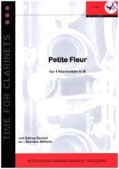 Bechet, Sidney: Petite Fleur für 4 Klarinetten, Partitur und Stimmen