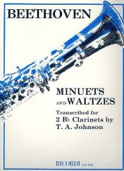 Beethoven, Ludwig van: Minuets and Waltzes for 2 clarinets score