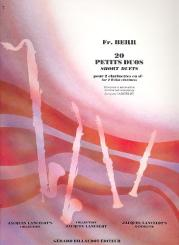 Berr, Frederic: 20 petits duos pour 2 clarinettes partition