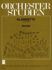 Brahms, Johannes: ORCHESTERSTUDIEN FUER KLARINETTE SINFONIEN, VARIATIONEN, TAENZE, SERENADEN, KONZERTE, CHORWERKE