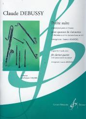Debussy, Claude: Petite suite pour 4 clarinettes (BBBBass), partition et parties