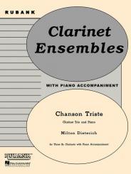 Dieterich, Milton: Chanson triste für 3 Klarinetten und Klavier Stimmen