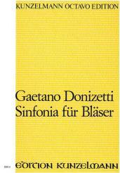 Donizetti, Gaetano: Sinfonia für Flöte, 2 Oboen, 2 Klarinetten, 2 Hörner, 2 Fagotte, Partitur