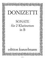 Donizetti, Gaetano: Sonate für 2 Klarinetten, Stimmen