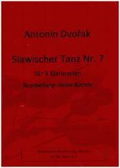 Dvorák, Antonín: Slawischer Tanz Nr.7 op.46,7 für 3 Klarinetten, Partitur und Stimmen