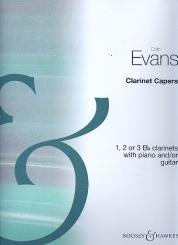 Evans, Colin: Clarinet Capers for 1-3 clarinets with piano and/or guitar