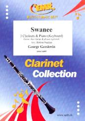 Gershwin, George: Swanee for 3 clarinets and piano (keyboard) (rhythm group ad lib), score and parts