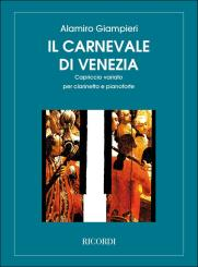 Giampieri, Alamiro: Il Carnevale di Venezia für Klarinette und Klavier