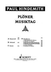 Hindemith, Paul: Plöner Musiktag Band D 2 Duette für Violine und Klarinette, Spielpartitur