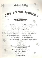 Joy to the World Eb-Version für Singstimme / Melodieinstrument, in Eb mit Akkordbezifferung