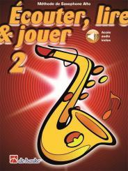 Kastelein, Jaap: Écouter, lire, jouer vol.2 (+Online Audio) pour saxophone alto (frz)