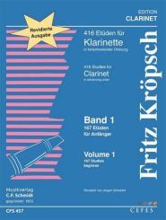 Kröpsch, Friedrich: 167 Etüden für Anfänger für Klarinette, Neuausgabe 2015