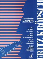 Kröpsch, Friedrich: 26 Etüden für Geübtere für Klarinette