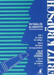 Kröpsch, Friedrich: 40 Etüden zur Modulation für Klarinette