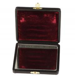 Etui für 6 Klarinettenblätter, Leder mit Spiegel