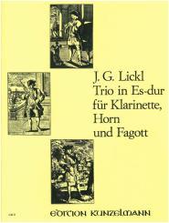 Lickl, Johann Georg: Trio für Klarinette, Horn und Fagott, Partitur und Stimmen